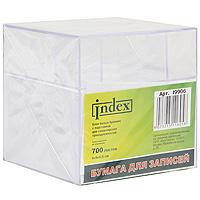 Бумага для записей Index, цвет: белый, в подставке, 700 листов бумага для записей многоцветная index 90х90х90