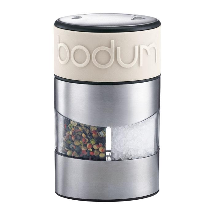 Мельница для соли и перца Bodum Twin, цвет: белый 11002-913