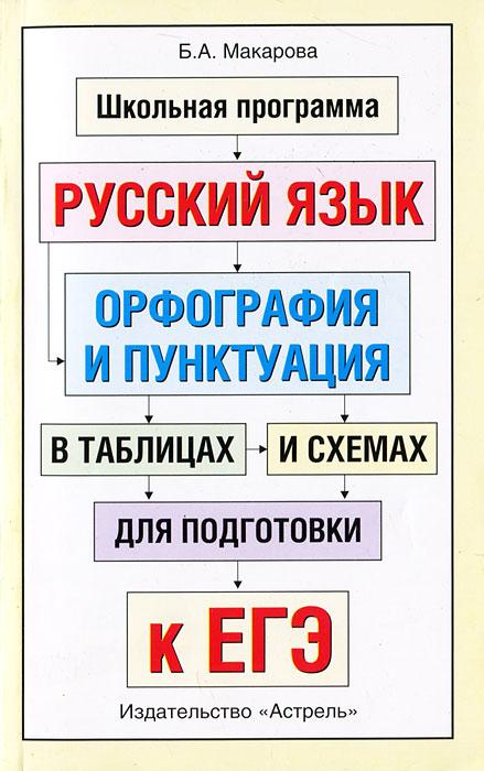 Б. А. Макарова Русский язык. Орфография и пунктуация в таблицах и схемах для подготовки к ЕГЭ