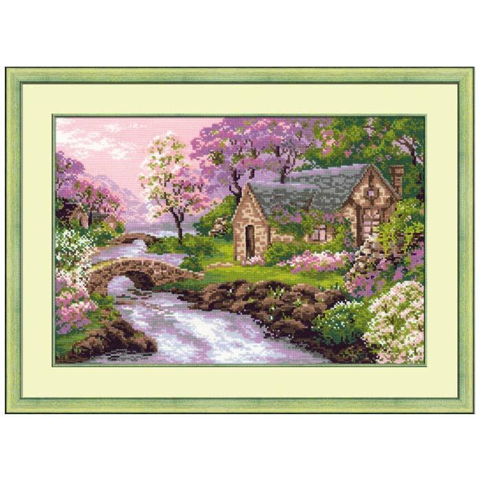Набор для вышивания крестом Riolis Весенний пейзаж, 38 см х 26 см набор для вышивания крестом riolis березы 26 х 38 см