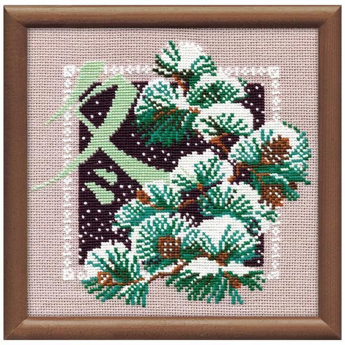 "Набор для вышивания ""Зима"", 20 х 20 см"
