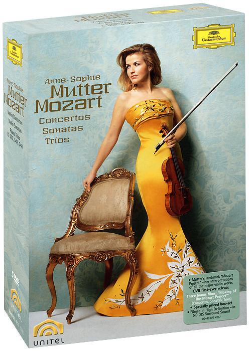 Mozart, Anne-Sophie Mutter: Violin Concertos, Sonatas, And Trios (5 DVD) anne sophie mutter anne sophie mutter the club album 2 lp 180 gr