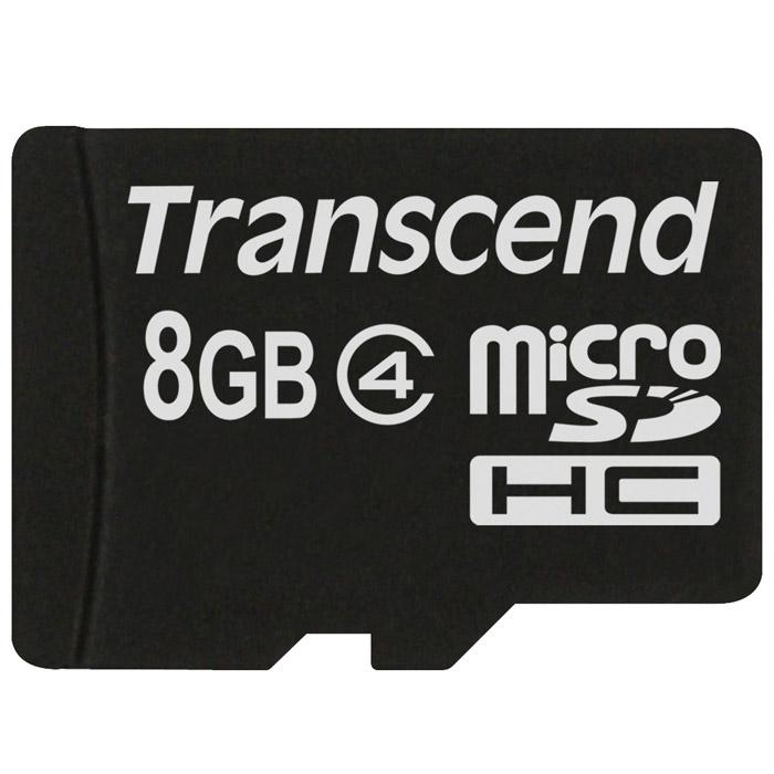 Transcend microSDHC Class 4 8GB карта памяти