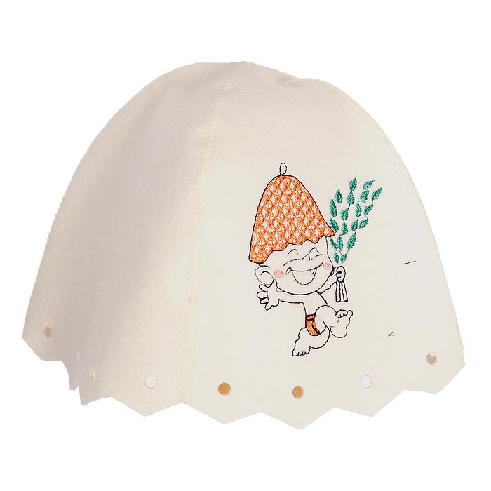 Фото - Шапка детская для бани и сауны Невский банщик Юный банщик, цвет: белый килт для бани и сауны невский банщик мужской цвет зеленый 60 см бн88