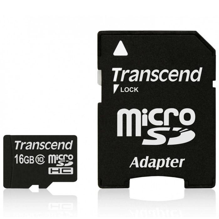 Карта памяти Transcend microSDHC Class 10 UHS-I U1 16GB карта памяти perfeo microsdhc cl 10 8 гб