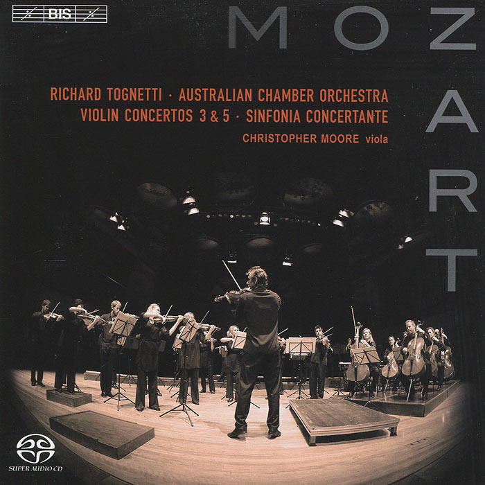 цена Ричард Тогнетти,Кристофер Мур,Australian Chamber Orchestra Richard Tognetti. Mozart. Violin Concerto Nos. 3 & 5 Etc. (SACD) онлайн в 2017 году