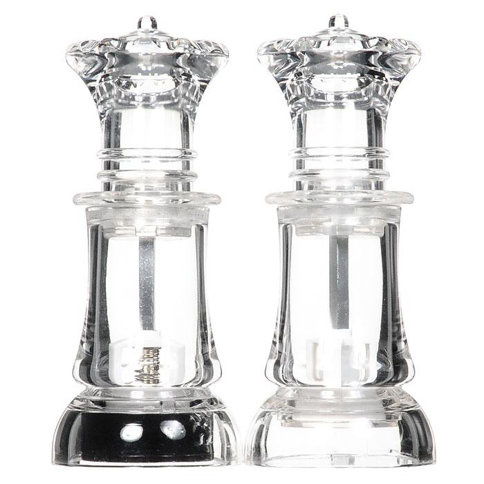 """Набор для специй """"Шах"""", цвет: прозрачный, 2 предмета."""