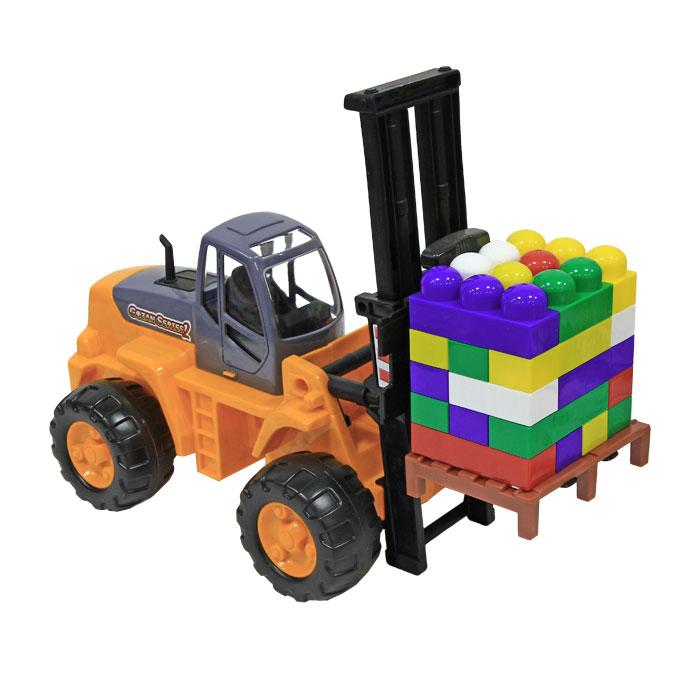 Игровой набор Автокар и конструктор, цвет в ассортименте автомобиль пластмастер малютка зефирки цвет в ассортименте 31172