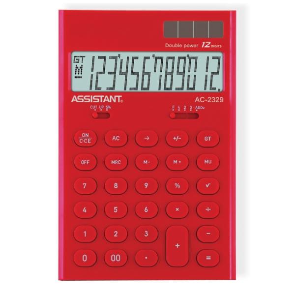 Фото - Калькулятор Assistant AC-2329, 12-разрядный, цвет: красный калькулятор настольный assistant ac 2488 14 разрядный ac 2488