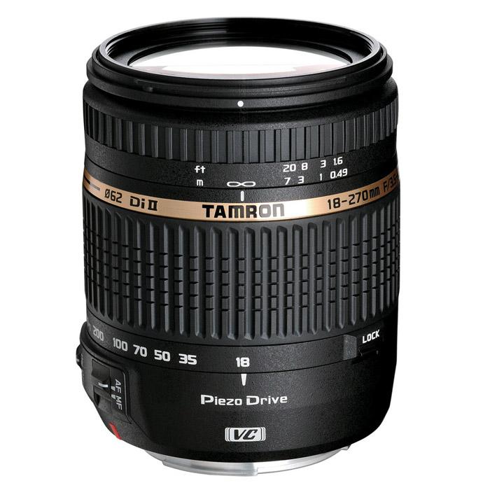 Объектив Tamron AF 18-270/3.5-6.3 Di II VC PZD, Nikon объектив tamron 28 300мм f 3 5 6 3 di vc pzd canon a010e