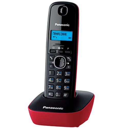 Радиотелефон Panasonic KX-TG1611RUR, красный
