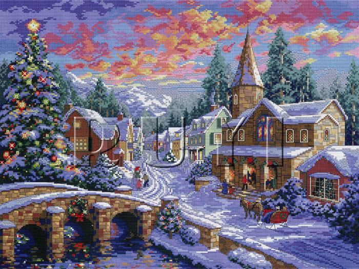 Набор для вышивания крестом Рождественская ночь, 54 х 42 см1176Красивый и праздничный рисунок-вышивка, выполненный на канве, выглядит оригинально и всегда модно. В наборе для вышивания Рождественская ночь есть все необходимое для создания собственного чуда: канва, специальные нити, две иглы и схема рисунка. Работа, сделанная своими руками, создаст особый уют и атмосферу в доме, и долгие годы будет радовать вас и ваших близких. Ведь вы выполните вышивку с любовью! Размер готовой работы: 54 х 42 см. Количество цветов: 47. Рекомендуем!