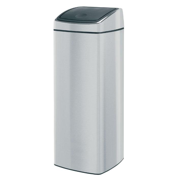 Бак мусорный Brabantia Touch Bin, прямоугольный, цвет: стальной матовый FPP, 25 л. 384929 candy fpp 609