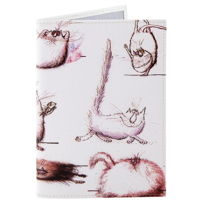 Обложка для паспорта Perfecto Кот, кот, кот!. PS-CT-0003 обложка для паспорта printio кот громовержец