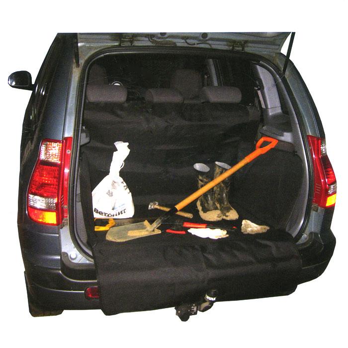Защитная накидка в багажник Comfort Adress, цвет: черный, 120 х 150 х 70 см накидка защитная в багажник comfort address daf 022 black