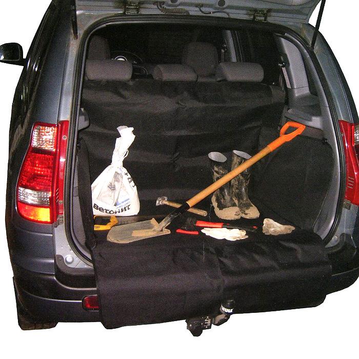 Защитная накидка в багажник Comfort Adress, цвет: черный, 75 см х 105 см х 75 см накидка защитная в багажник comfort address daf 022 black