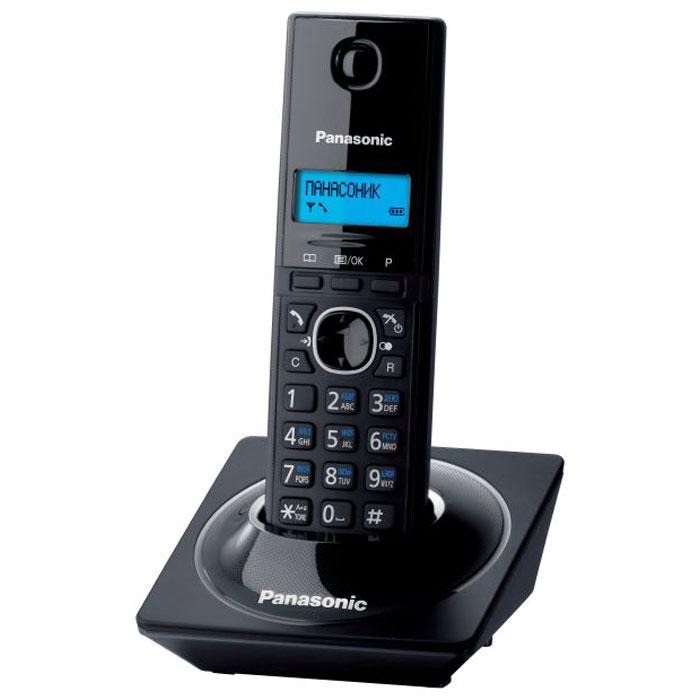 Радиотелефон Panasonic KX-TG1711RUB, черный атс panasonic kx tem824ru аналоговая 6 внешних и 16 внутренних линий предельная ёмкость 8 внешних и 24 внутренних линий