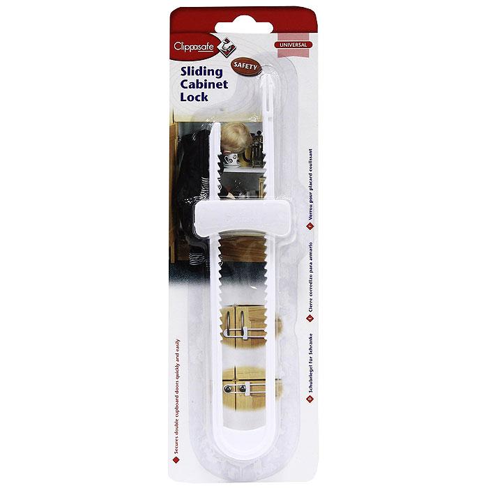 Фото - Защитный замок для створчатых дверей Clippasafe блокировка дверей clippasafe cl72 1 для створчатых дверей белый 2 шт