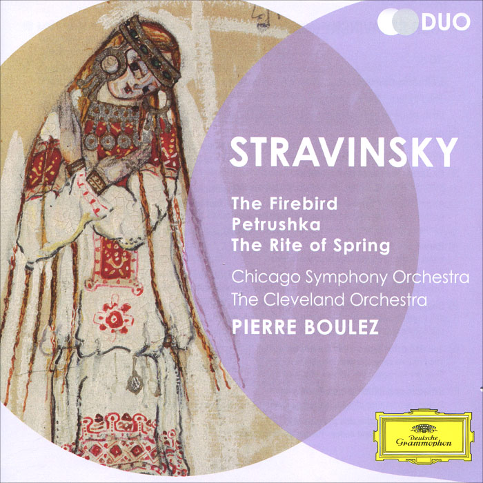 Игорь Стравинский,Chicago Symphony Orchestra,The Cleveland Orchestra Igor Stravinsky. Boulez. The Firebird. Petrushka. The Rite Of Spring (2 CD) игорь стравинский igor stravinsky czech philharmonic orchestra conductor karel ancerl le sacre du printemps the rite of spring lp