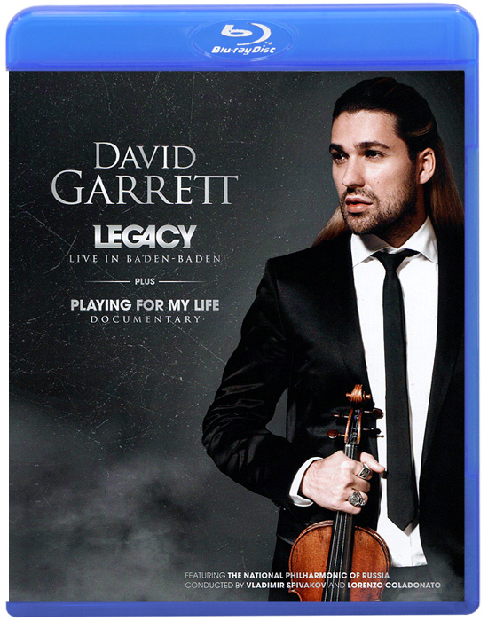 David Garrett: Legacy - Live In Baden-Baden (Blu-ray) генри шеринг чарльз райнер szeryng plays kreisler and other tresures for the violin