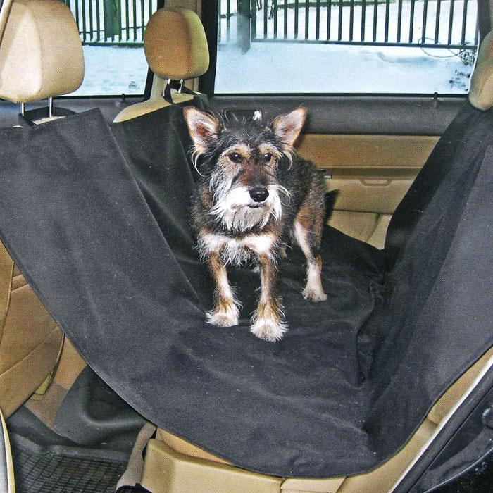 Накидка для перевозки собак Comfort Adress, цвет: черный, 150 см х 150 см накидка защитная в багажник comfort address daf 022 black