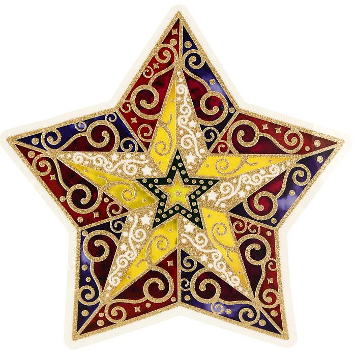 Новогоднее оконное украшение Звезда. 20208