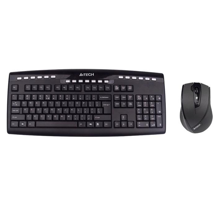 Комплект мышь + клавиатура A4Tech 9200F, Black