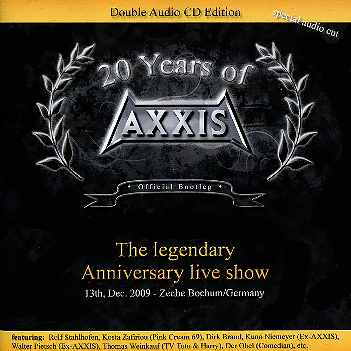 Axxis Axxis. 20 Years Of Axxis. The Legendary Anniversary Live Show (2 CD) playboy after dark the legendary television show 3 dvd