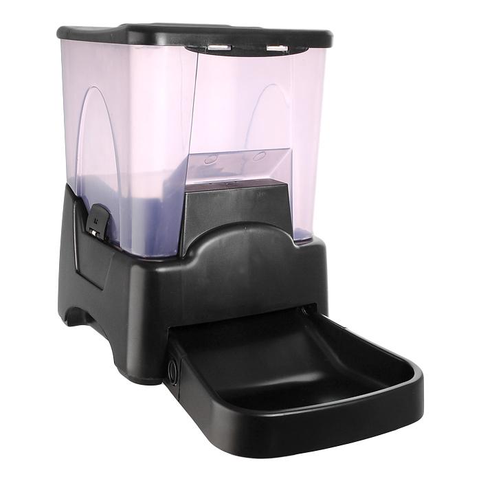 Кормушка автоматическая Feed-Ex, для сухого корма, цвет: черный, 6-7 кг кормушка автоматическая feed ex для сухого корма цвет черный 6 7 кг