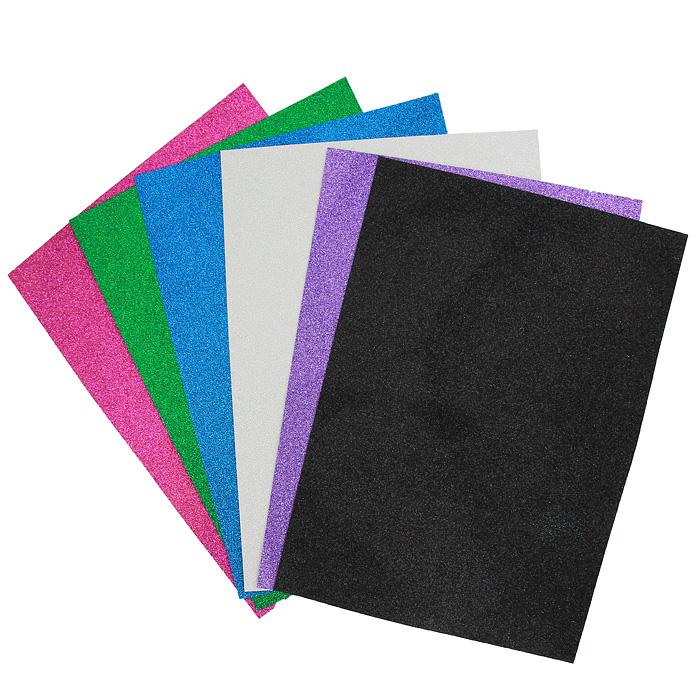 Цветная самоклеящаяся бумага Fancy, 6 листов набор бумаги цветной для квиллинга action fancy микс 6мм 53см 100 штук 18цветов