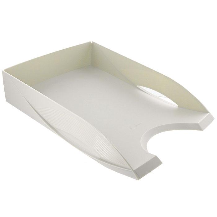 <b>Лоток</b> пластиковый для <b>бумаг ErichKrause</b> Rainbow, серый ...