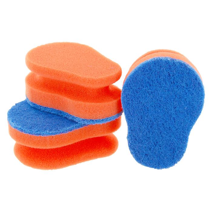 Набор губок Aqualine для мытья посуды, цвет в ассортименте, 3 шт