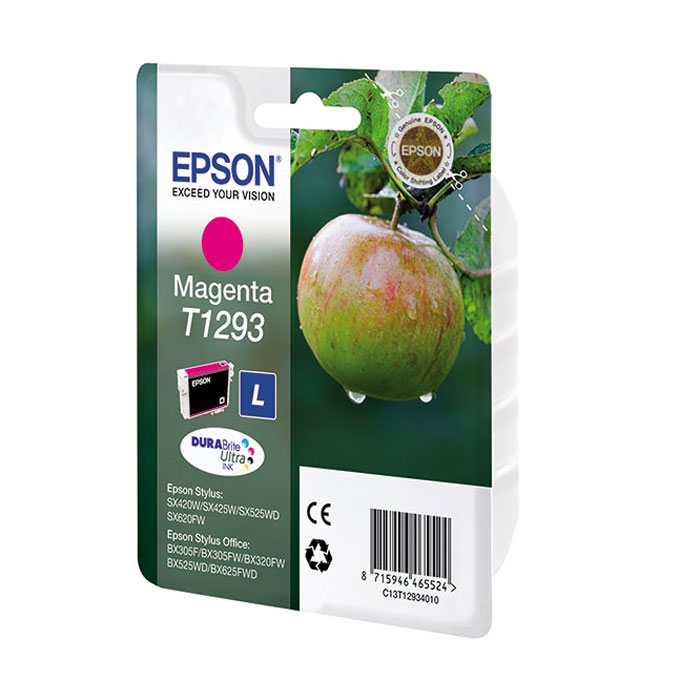 Картридж Epson T1293, пурпурный, для струйного принтера, оригинал