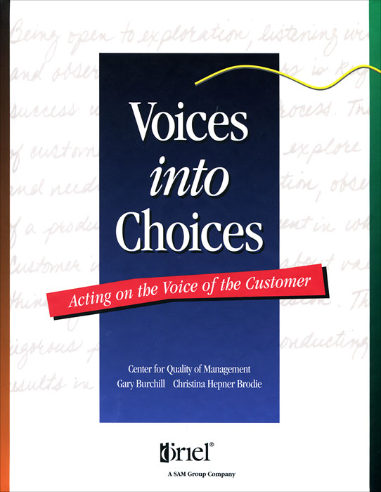 Voices into Choices: Acting on the Voice of the Customer oduor benson the use of narrative voices to present ideological dispensation