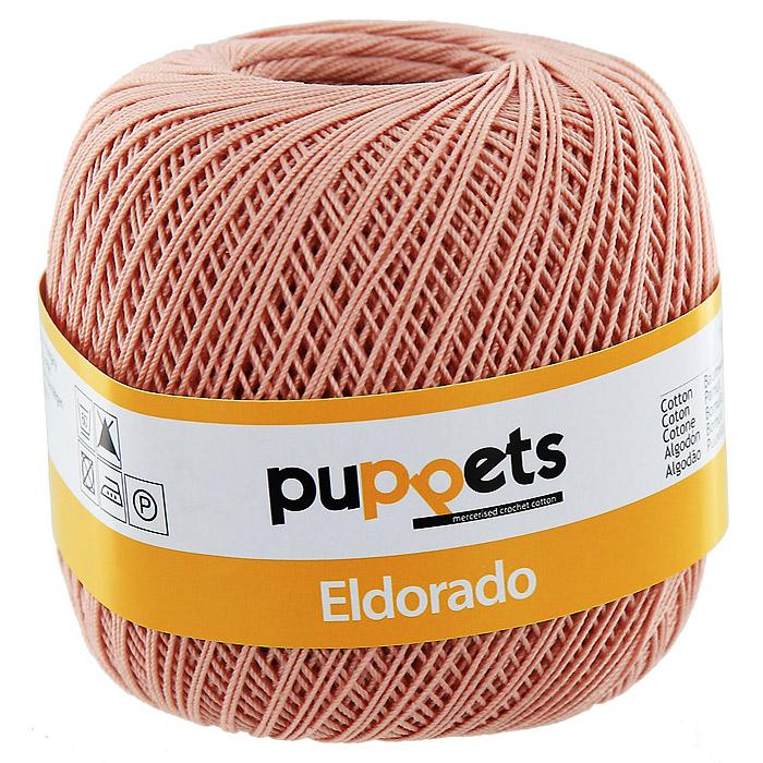 Пряжа для вязания крючком Puppets Eldorado, цвет: увядшая роза (04247)4574010 - 04212Пряжа для вязания крючком Eldorado (Эльдорадо) нить кроше - это качественная нить с улучшенным внешним видом и расширенным ассортиментом для создания одежды и аксессуаров, а также изделий, которые украсят ваш дом. Пряжа для вязания Eldorado состоит из мерсеризированного хлопка. Мерсеризация - обработка пряжи крепким раствором щелочи (едкого натра) под напряжением. Этот метод был разработан в первой половине XIX века английским химиком Джоном Мерсером. После такой обработки хлопковые волокна приобретают новые свойства: шелковистый блеск, мягкость, дополнительную прочность, на 25% повышается допустимое растягивающее усилие. Натуральный хлопок не имеет блеска. После мерсеризации его удается окрасить в любые яркие тона. Пряжа из хлопка является экологически чистой, так как производится из натурального материала. Характеристики: Состав: 100% мерсеризированный хлопок. Вес мотка: 50 г. Длина нити: 265 м. Толщина нити: 0,15 см. Цвет: увядшая роза (04247). Производитель: Германия. Изготовитель: Венгрия. Артикул: 4574010.
