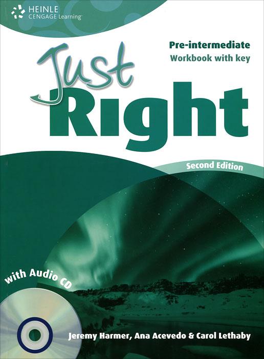Just Right: Pre-Intermediate: Workbook with Key (+ CD) джемпер just key just key ju016emzxi49