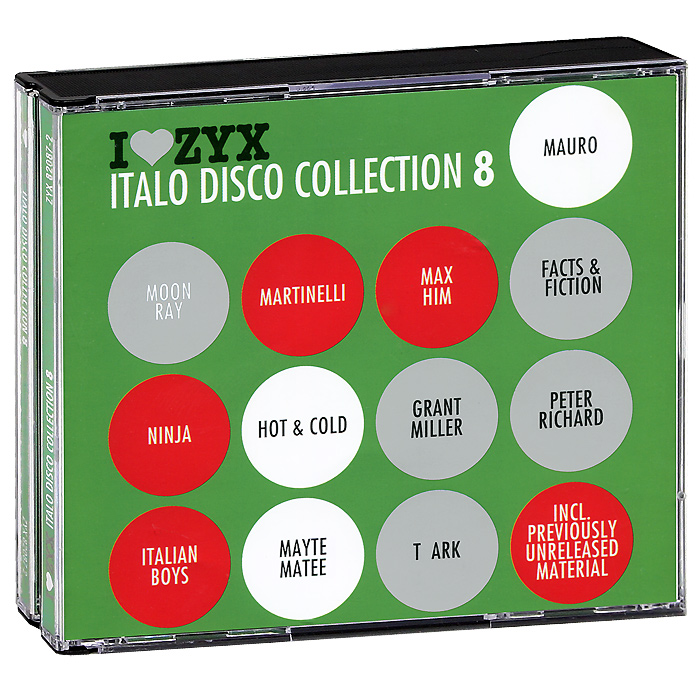 Ninja,Martinelli,Мэйти Мате,Italian Boys,Johnny M,Shipra,Грант Миллер Italo Disco Collection 8 (3 CD) цена