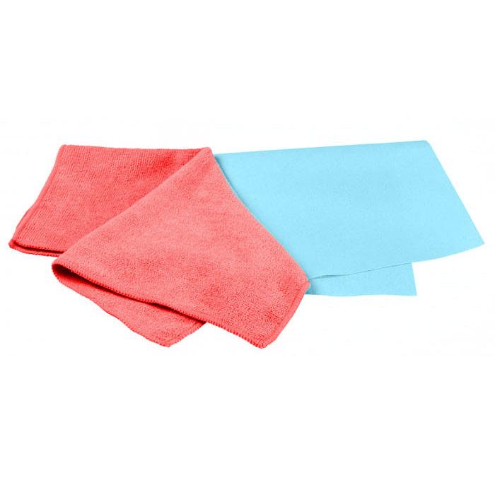 Набор салфеток для ухода за автомобилем Pingo, 40 х 36 см, 32 х 32 см, 2 шт набор для ухода за стеклами автомобиля pingo 85034 1
