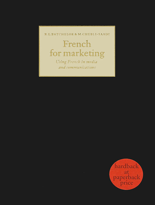 French for Marketing french in one click book with cd