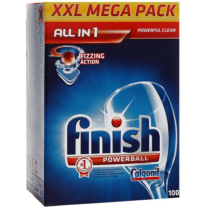 Finish All in 1 Блеск и Защита, 100 таблеток таблетки finish all in1 fizzing action