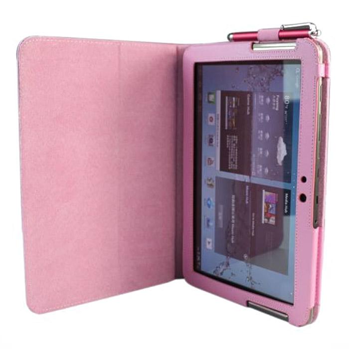 IT Baggage чехол для Samsung Galaxy Tab 2 10.1, Pink (ITSSGT1022-3) чехол книжка для samsung galaxy tab 10 1 p5100 p5110 it baggage black флип искусственная кожа