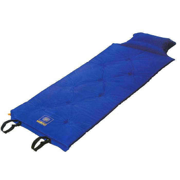 Коврик Wanderlust V-Max 25, самонадувающийся, с подушкой, цвет: синий цена