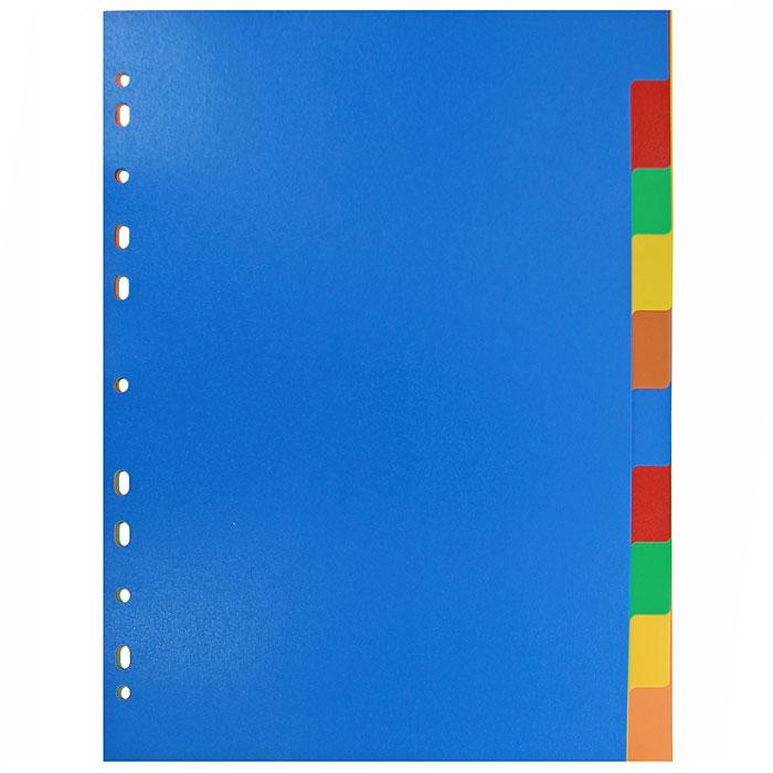 Разделитель листов по цветам ErichKrause, A4,10 листов разделитель цветовой erich krause 10 цветов формат а4