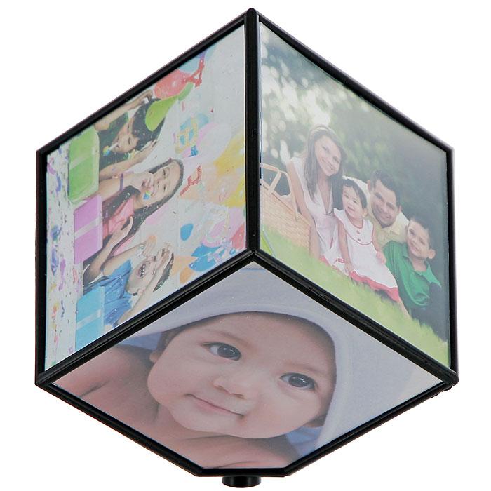 """Фоторамка """"Куб"""", вращающаяся, 10 см х 10 см, на 6 фотографий"""