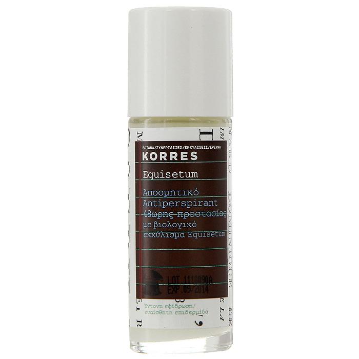 Korres Дезодорант шариковый с экстрактом хвоща, для чувствительной кожи, 30 мл korres дезодорант шариковый с экстрактом хвоща для чувствительной кожи без отдушек 30 мл