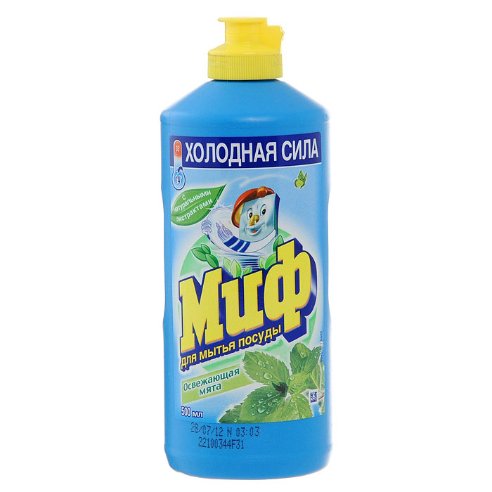 """Средство для мытья посуды """"Миф"""", освежающая мята, 500 мл"""