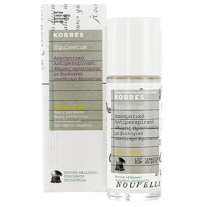 Korres Дезодорант шариковый с экстрактом хвоща, для чувствительной кожи, без отдушек, 30 мл korres дезодорант шариковый с экстрактом хвоща для чувствительной кожи без отдушек 30 мл