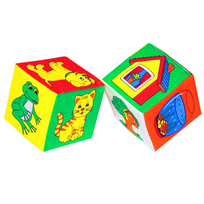Кубики-мякиши Чей домик?, 2 шт набор из 2 кубиков мякиши чей детеныш в кор 40наб