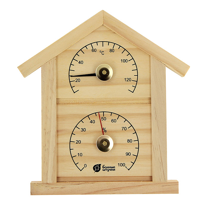 Фото - Термометр с гигрометром Домик для бани и сауны мочалка банные штучки королевский пилинг рукавица 41291 светло бежевый 14 5 х 25 см