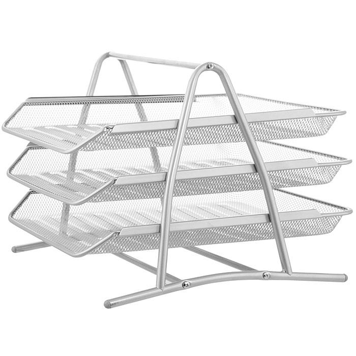 <b>Лоток</b> металлический для <b>бумаг ErichKrause</b> Steel, 3-уровневый ...
